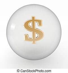 bubble with symbol of dollar