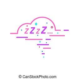 bubble., zzz, sueño