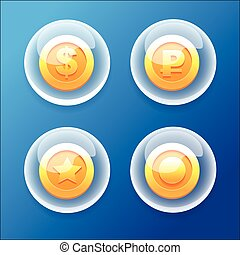 BubbleCoins - Vector Game icons collections Bubble Coins