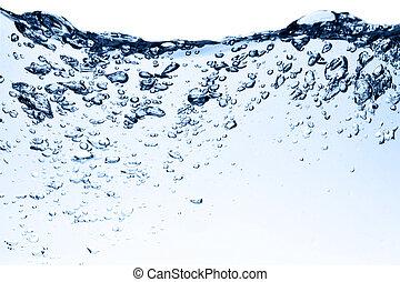 bubbles, в, воды, закрыть, вверх