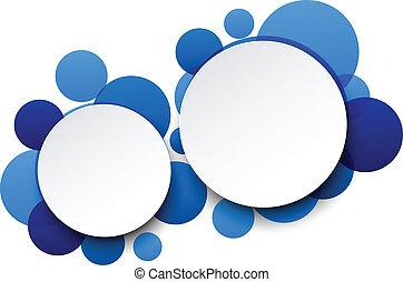 bubbles., 白色, 紙, 演說, 輪