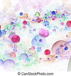 Abstract 3D rendering of bubbles