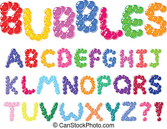 Bubbles alphabet