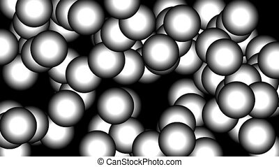 Bubbles - Animated background sequence with growing bubbles...