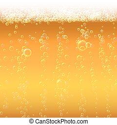 bubbles., birra, schiuma, fondo