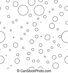 Bubbles black and white seamless pattern vector version