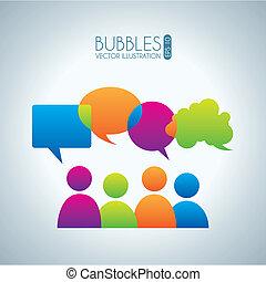 bubbles communication icons