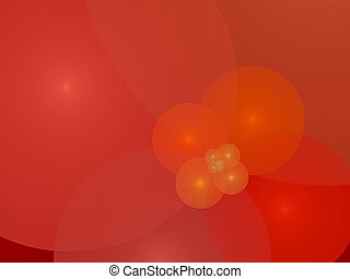 Bubbles, design display with fractals, creative background ...