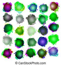 bubbles., fala, original, illustration.