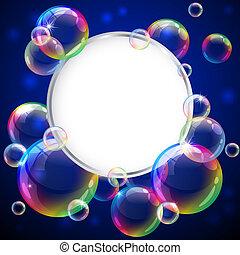 Bubbles frame - Vector illustration - soap bubbles frame. ...