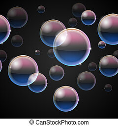 Bubbles from bubble blower