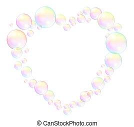 Bubbles Heart Frame