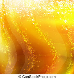 bubbles in a glass of champagne, romantic background