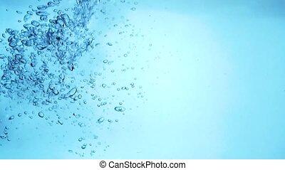 bubbles in water slow motion