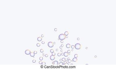 bubbles in white