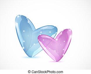 Bubbles Of Heart. Vector