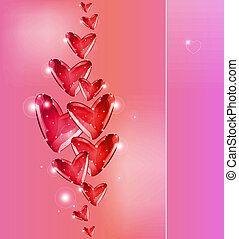 Bubbles Of red Hearts. Vector