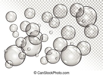 bubbles on transparent background