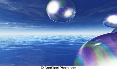 Bubbles over water