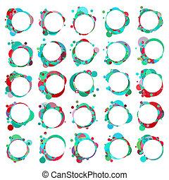 bubbles., parole, eps, coloré, 8