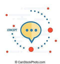 bubbles talk concept