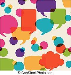 bubbles talk design, vector illustration eps10 graphic