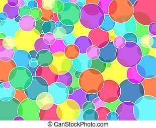 Bubbles transparent