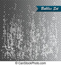 Bubbles under water vector illustration on transparent background