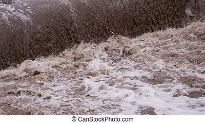 Bubbling Stream of Dirty Water - Powerful streams of dirty...