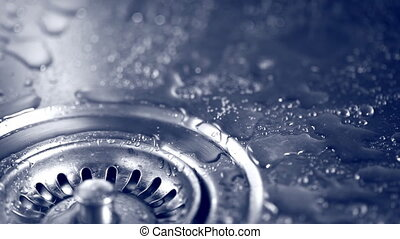 bubbly flow of water in the sink