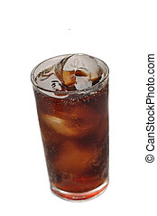 Bubbly Soda - A clear glass filled with bubbling soda pop...