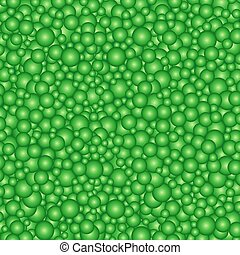 buble green circles background