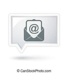 bublina, newsletter, řeč, ikona