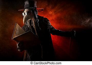 bubonic plague - Terrible plague doctor. Medieval Europe....