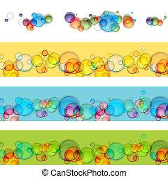 buborék, úszó, állhatatos, transzparens