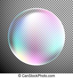 buborék, mint, tervezés elem, elszigetelt, képben látható,...