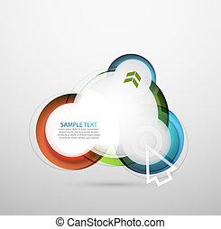 buborék, vektor, transzparens, hi-tech