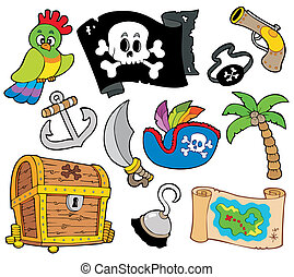 Buccaneer collection on white background - vector...