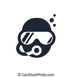 buceo, escafandra autónoma, logotipo