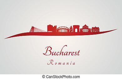 bucharest, スカイライン, 赤