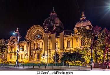 bucharest, -, ルーマニア, cec, 宮殿