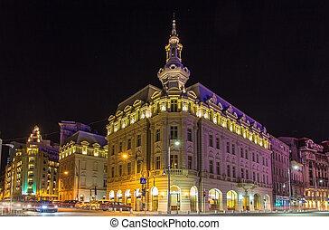 bucharest, 都市, 建物, 中心, -, ルーマニア