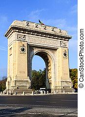 Bucharest arch of triumph - Bucharest's arch of triumph on a...
