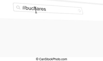 Bucharest hashtag search through social media posts...