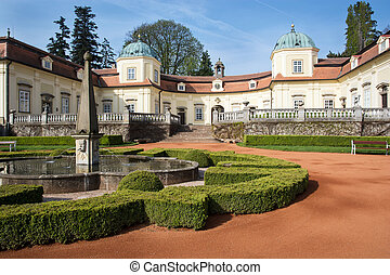 buchlovice, famoso, castillo