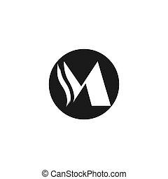 buchstabe m, logo