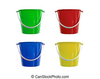 Bucket And Spade - A toy bucket and spade set isolated ...