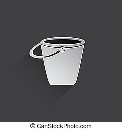 bucket flat icon illustration.