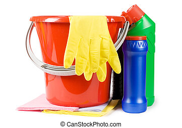 Bucket for cleaning with washing-up liquids