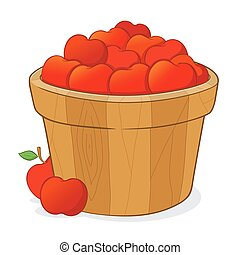 Bucket Full of Red Apples